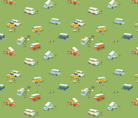 buses fabric by heatherross on Spoonflower - custom fabric