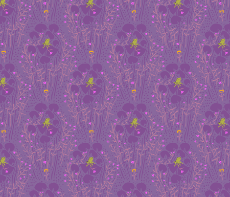frog_prince_purple fabric by heatherross on Spoonflower - custom fabric