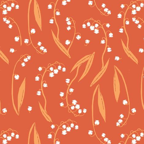lily_orange fabric by heatherross on Spoonflower - custom fabric