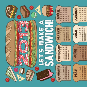 2013 tea towel calendar