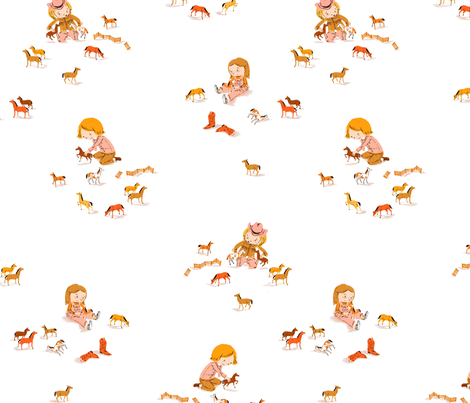 playing_horses fabric by heatherross on Spoonflower - custom fabric