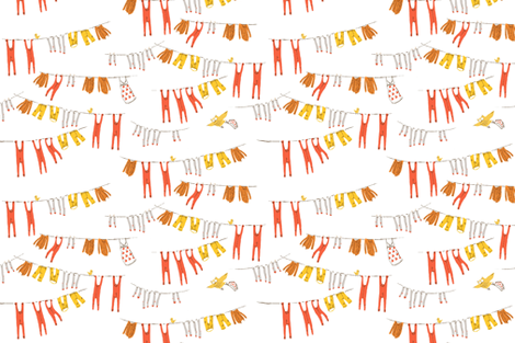 snow_white_laundry fabric by heatherross on Spoonflower - custom fabric