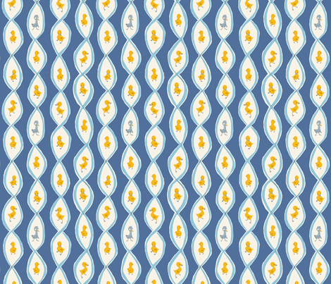 ugly_duckling_blue fabric by heatherross on Spoonflower - custom fabric