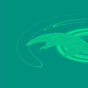 Pangolins in Blue