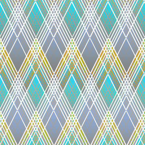 Harlequin Argyle blue fabric by joanmclemore on Spoonflower - custom fabric