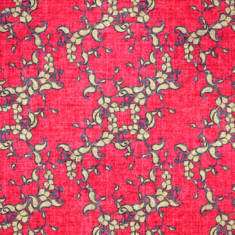 Paisley faux velvet pink fabric by joanmclemore on Spoonflower - custom fabric