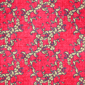 Paisley faux velvet pink