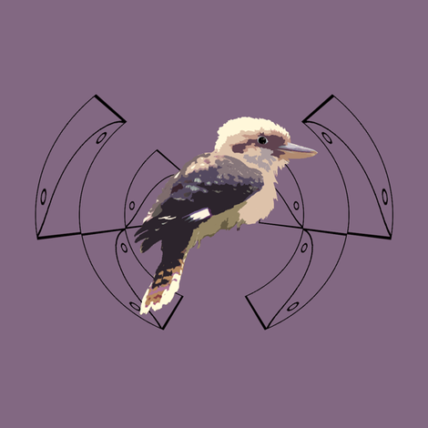 Kookaburra fabric by featheralchemist on Spoonflower - custom fabric