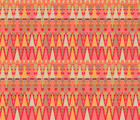 Zig Zag Cheater Quilt fabric by rubydoor on Spoonflower - custom fabric