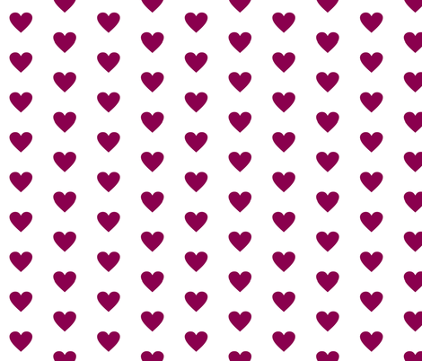 Purple Love on White fabric by smuk on Spoonflower - custom fabric