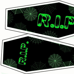 Neon Green Coffin Shaped Pillow Kit