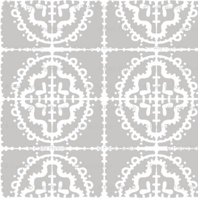 Bumpy Wonky Tile (dove grey)
