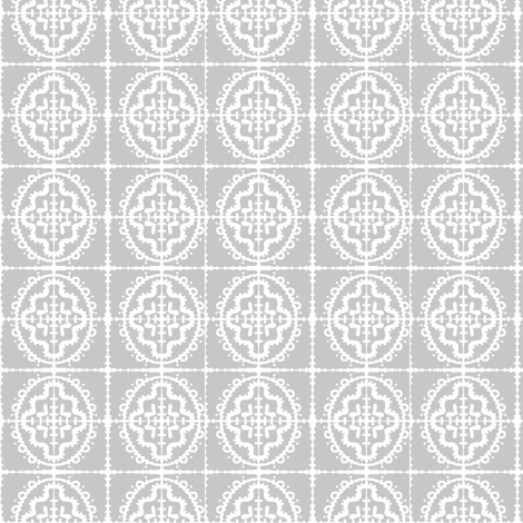 Bumpy Wonky Tile (dove grey) fabric by pattyryboltdesigns on Spoonflower - custom fabric