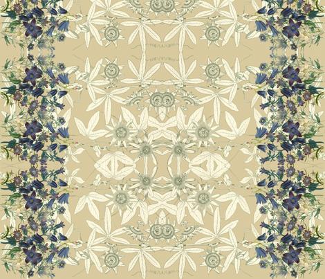 flowerboarder fabric by craftyscientists on Spoonflower - custom fabric