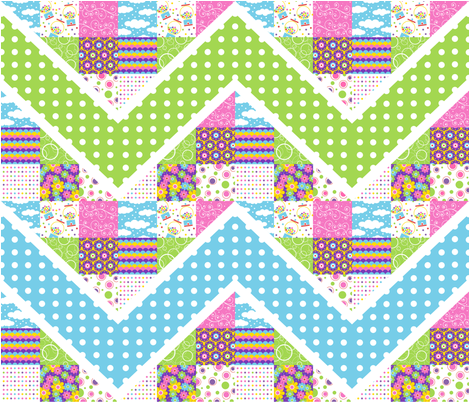Bubblegum Zig-Zag fabric by holladay on Spoonflower - custom fabric