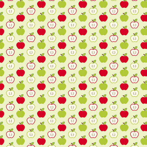 Red and Green Apples fabric by risarocksit on Spoonflower - custom fabric