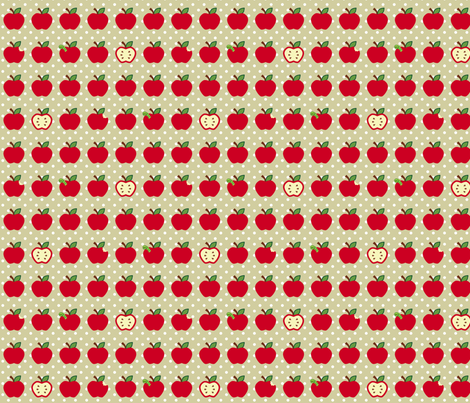Red Apples fabric by risarocksit on Spoonflower - custom fabric