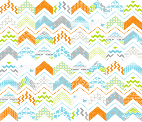 sea swell chevron  fabric by minglestudios on Spoonflower - custom fabric