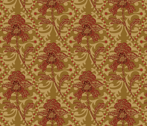 indian spice / antique gold #4 fabric by paragonstudios on Spoonflower - custom fabric