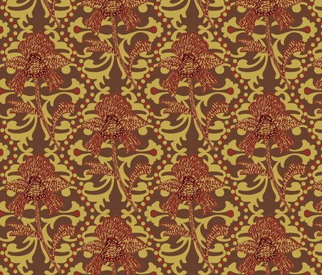 indian spice / paprika #4 fabric by paragonstudios on Spoonflower - custom fabric