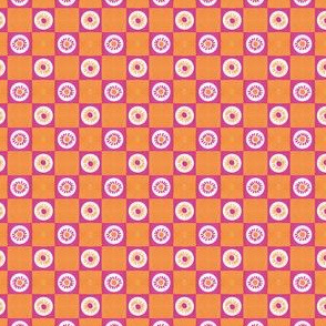 Summer Flower Checkerboard