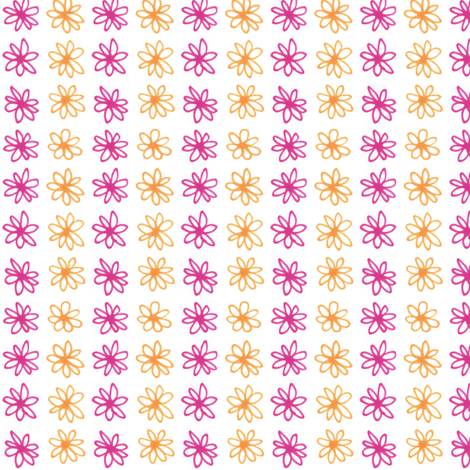 Doodle Daisy Stripe fabric by siya on Spoonflower - custom fabric