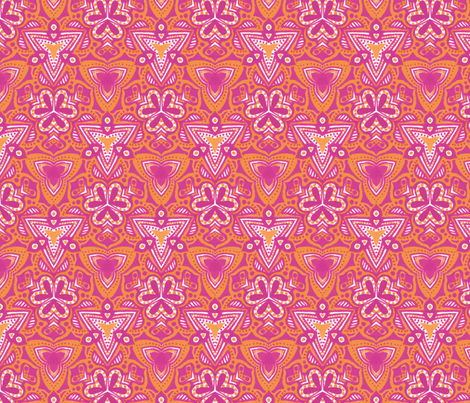 Summer Triangles fabric by siya on Spoonflower - custom fabric