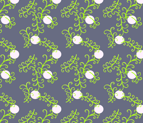 Moonlight fronds fabric by keweenawchris on Spoonflower - custom fabric