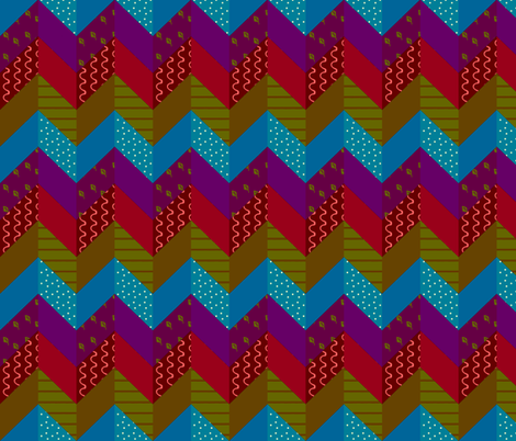 Bohemian Zig Zag Cheater Quilt fabric by arts_and_herbs on Spoonflower - custom fabric