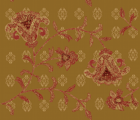 indian spice / antique gold flora
