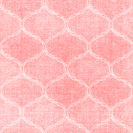 Blooms Coordinate textured pink medallion  fabric by joanmclemore on Spoonflower - custom fabric