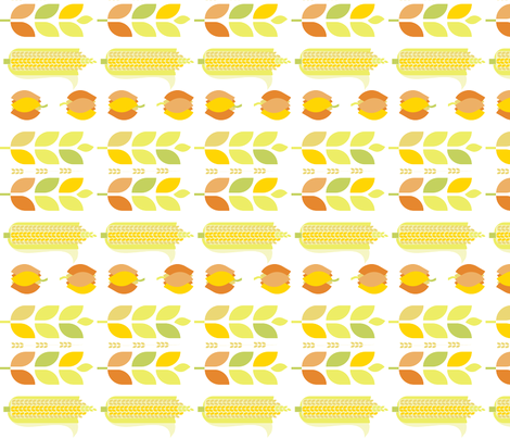 Mod Corn on the Pumpkins fabric by wren_leyland on Spoonflower - custom fabric