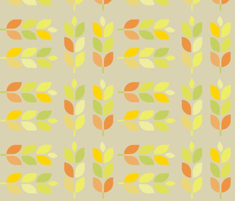 Mod Corn on the Pumpkins fabric by wren_leyland on Spoonflower - custom fabric