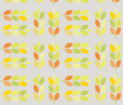 mod autumn stalks fabric by wren_leyland on Spoonflower - custom fabric