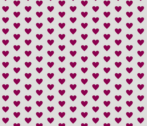 Purple Love on Grey fabric by smuk on Spoonflower - custom fabric