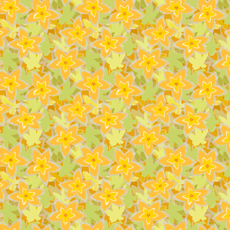 Pumpkin Blossoms fabric by wren_leyland on Spoonflower - custom fabric