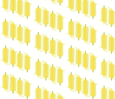 Corn Rows Bias fabric by wren_leyland on Spoonflower - custom fabric