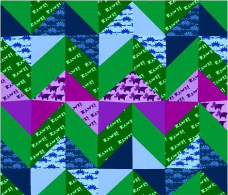 Dino Chevron fabric by rainbidleman on Spoonflower - custom fabric