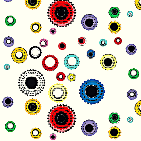 Vintage Button Scatter fabric by boris_thumbkin on Spoonflower - custom fabric