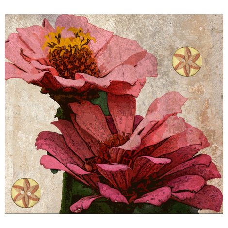 zinnias-ed fabric by katiemadeit on Spoonflower - custom fabric
