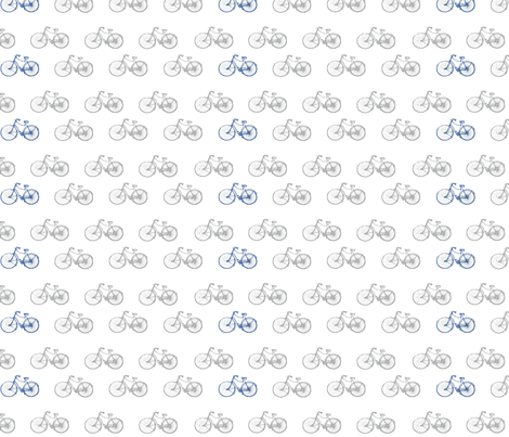Simple Bicycles fabric by mellysews on Spoonflower - custom fabric