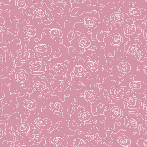 SccribbleRose fabric by ghennah on Spoonflower - custom fabric