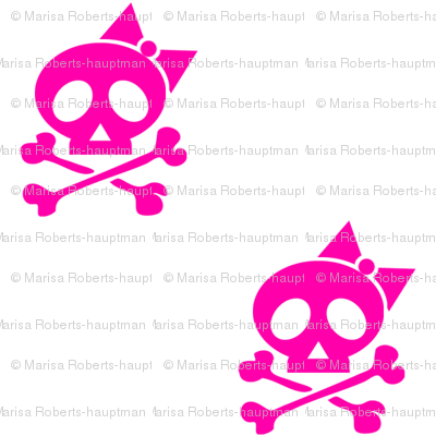 Girls Rock Pink Skulls