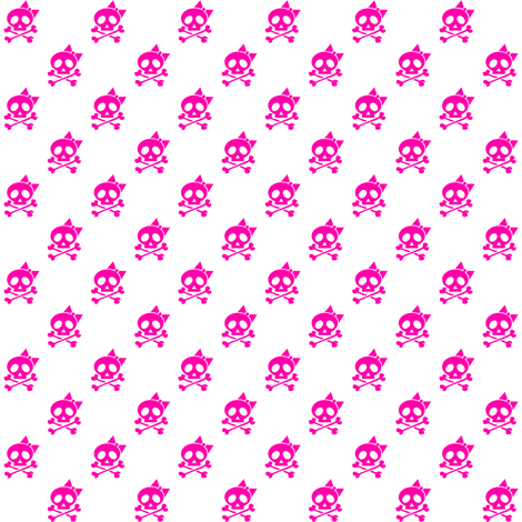 Girls Rock Pink Skulls fabric by risarocksit on Spoonflower - custom fabric