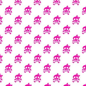 Girls Rock Pink Skulls