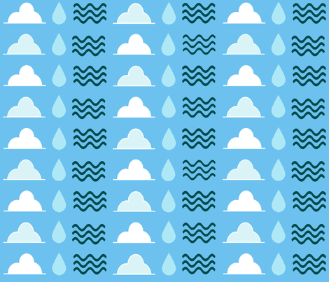 The Water Cycle fabric by kaylaconspiracy on Spoonflower - custom fabric