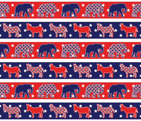 Politics on Parade fabric by robyriker on Spoonflower - custom fabric