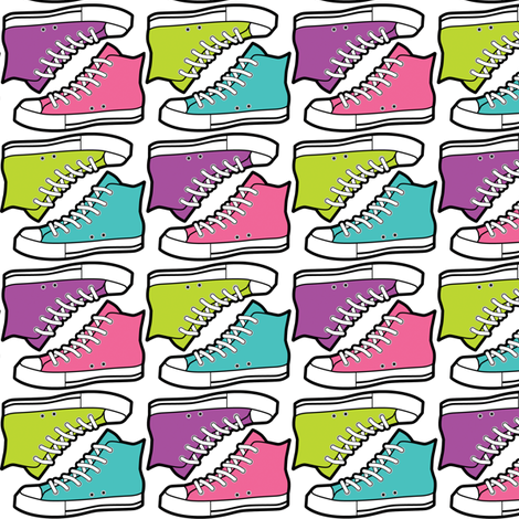 girls rock sneakers fabric by risarocksit on Spoonflower - custom fabric