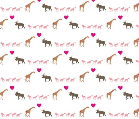 Giraffe Moose Love + Kids fabric by smuk on Spoonflower - custom fabric