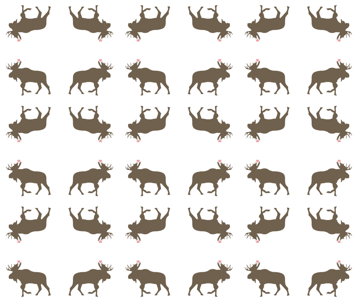 Moose Love  fabric by smuk on Spoonflower - custom fabric